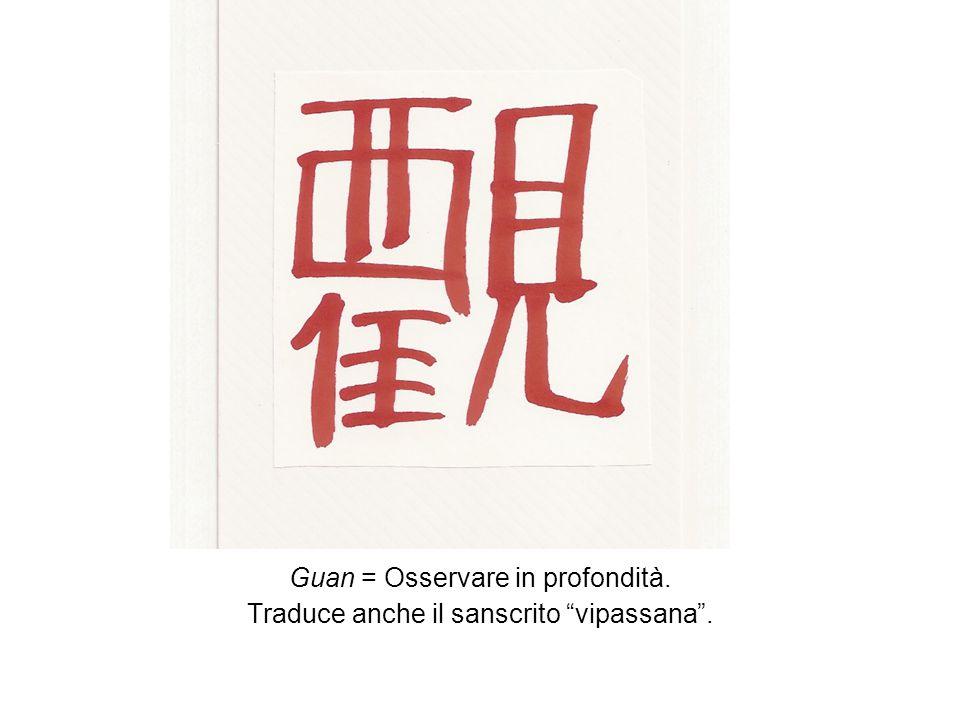 Guan = Osservare in profondità. Traduce anche il sanscrito vipassana.
