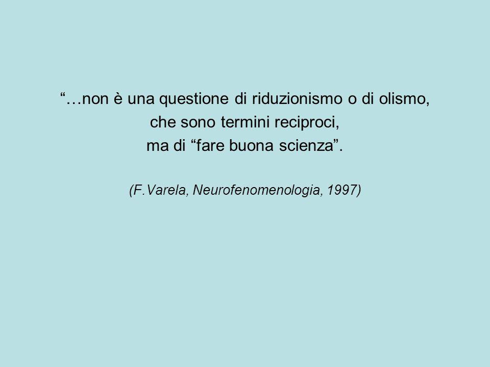 …non è una questione di riduzionismo o di olismo, che sono termini reciproci, ma di fare buona scienza.