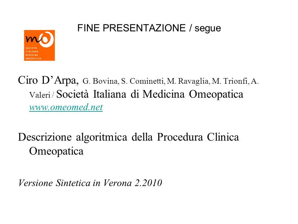 FINE PRESENTAZIONE / segue Ciro DArpa, G. Bovina, S.