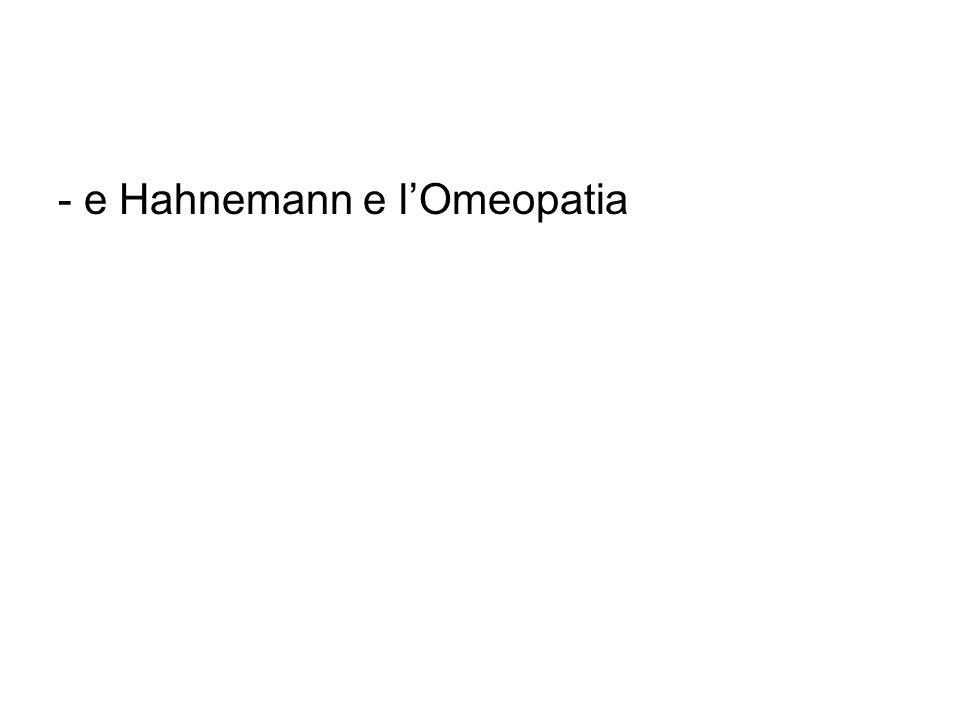 - e Hahnemann e lOmeopatia