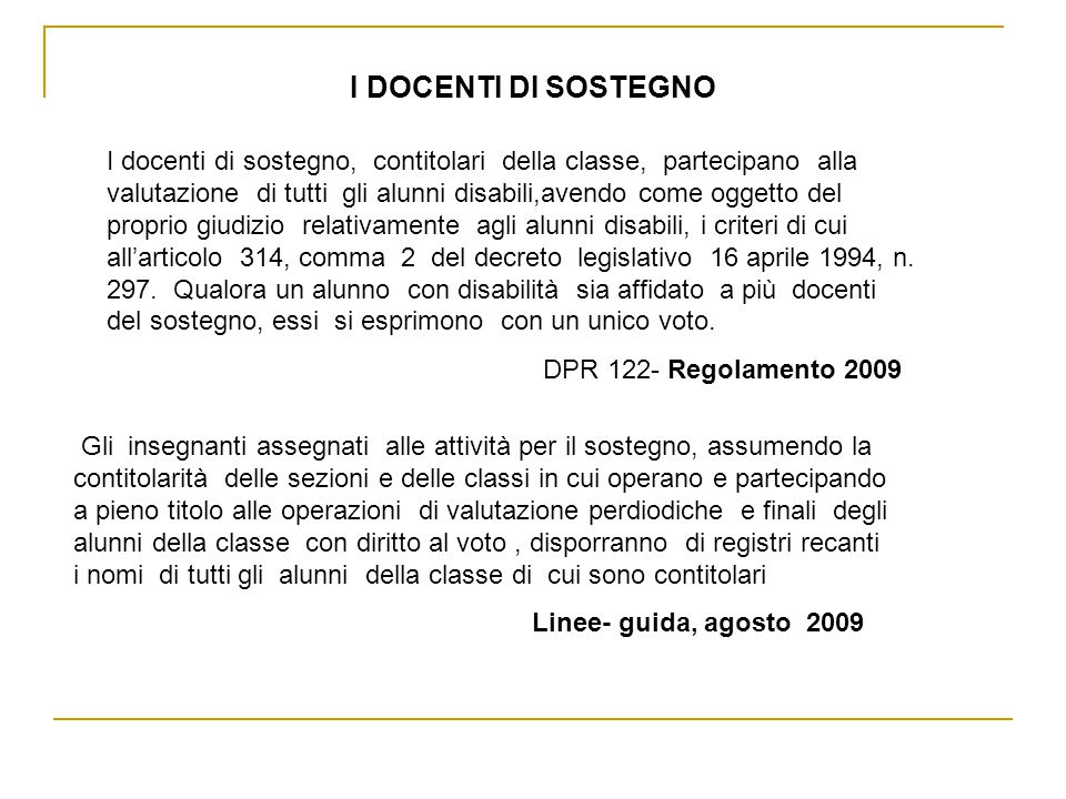 PROVE DIFFERENZIATE CORRISPONDENTI ai sensi del D.Lgs 297/1994- art.