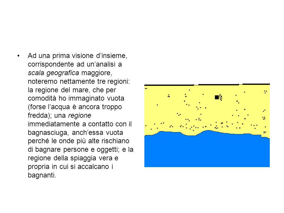 Ad una prima visione dinsieme, corrispondente ad unanalisi a scala geografica maggiore, noteremo nettamente tre regioni: la regione del mare, che per