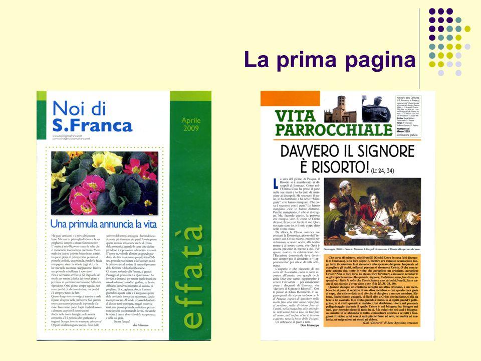 La prima pagina