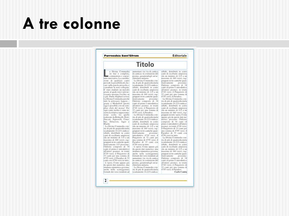 A tre colonne