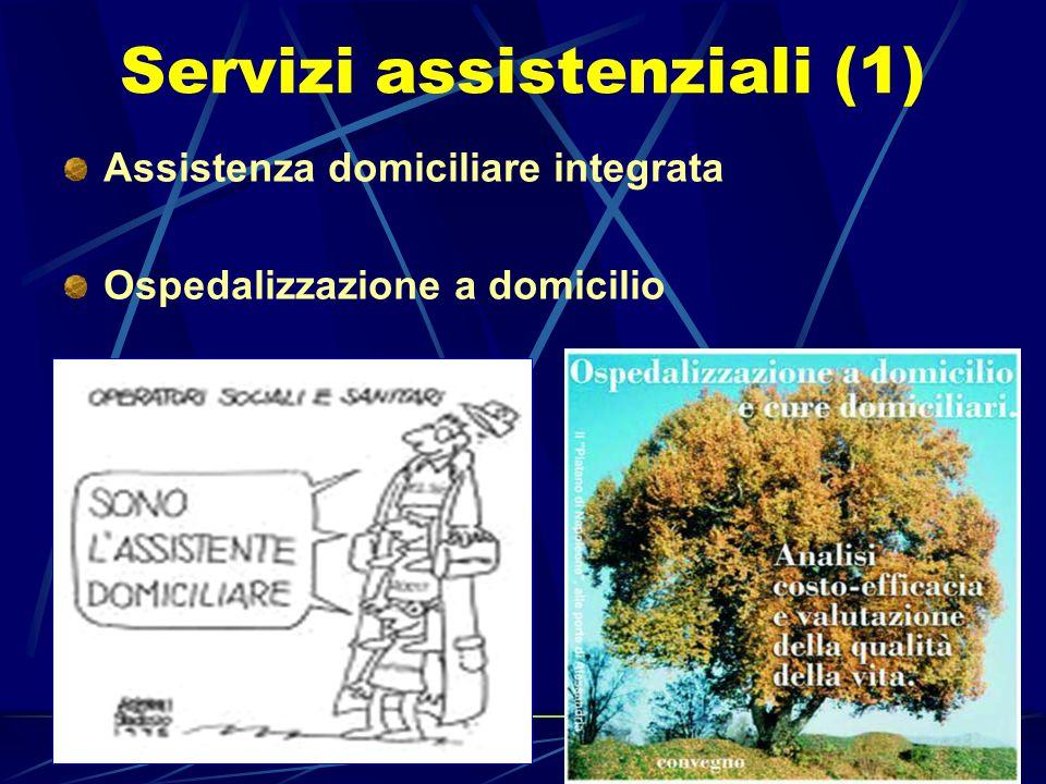 Walter Lutri Servizi assistenziali (1) Assistenza domiciliare integrata Ospedalizzazione a domicilio