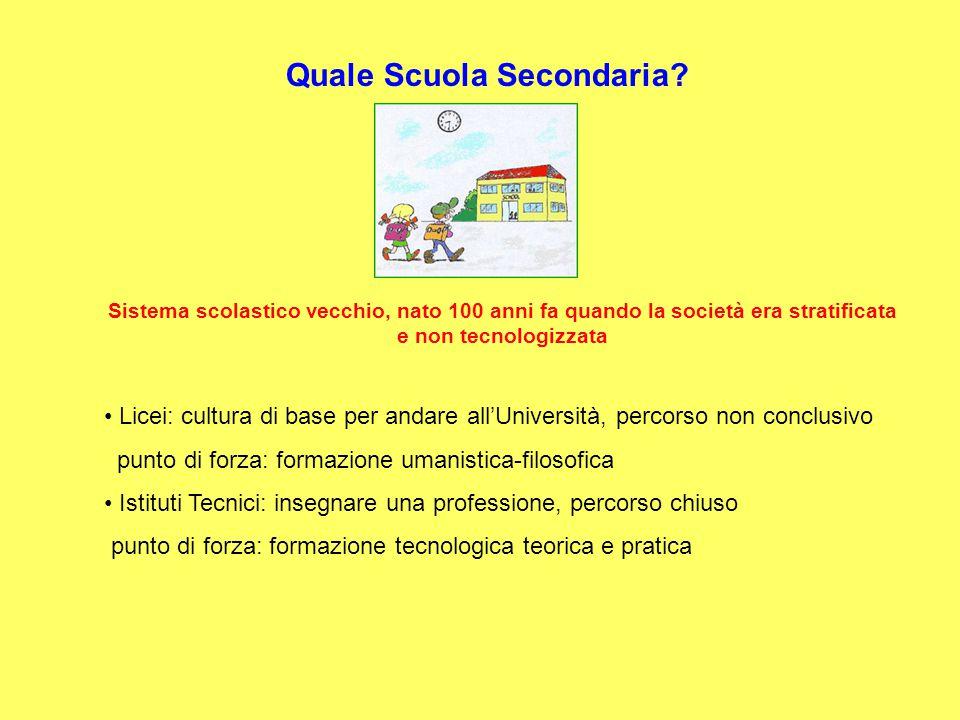 Progetto Brocca Il punto di forza dei Licei è il punto di debolezza degli IT, allora…..