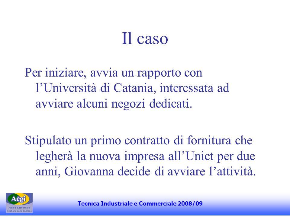 Il caso Per iniziare, avvia un rapporto con lUniversità di Catania, interessata ad avviare alcuni negozi dedicati.