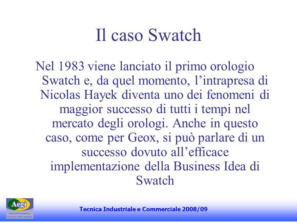 Il caso Swatch Nel 1983 viene lanciato il primo orologio Swatch e, da quel momento, lintrapresa di Nicolas Hayek diventa uno dei fenomeni di maggior successo di tutti i tempi nel mercato degli orologi.
