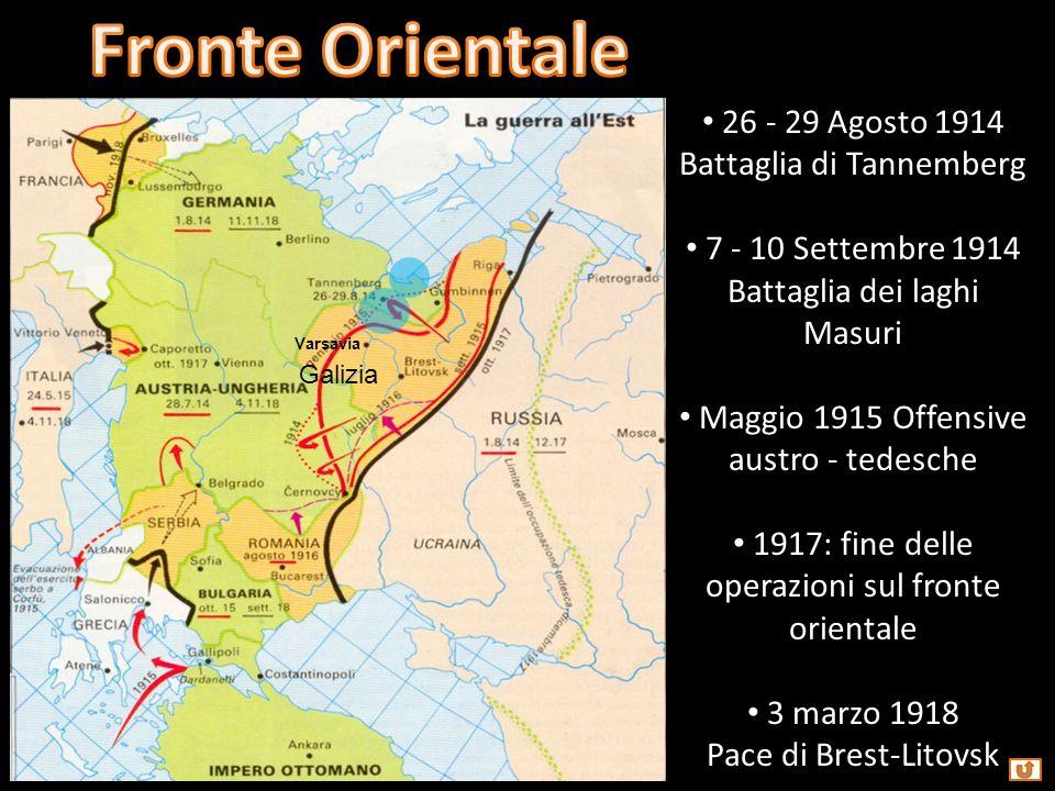 6 settembre 1914 Prima battaglia della Marna von Moltke vs Joffre Feb - Dic 1916 Verdun DE vs FR Lug - Nov 1916 Prima battaglia della Somme UK + FR vs