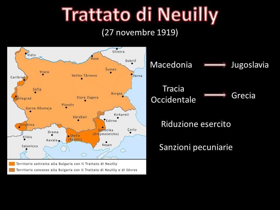 10 settembre 1919 4 giugno 1920 Dissoluzione dellImpero Austro - Ungarico Cessione di territori al Regno dItalia Trentino, Alto Adige, Venezia Giulia,