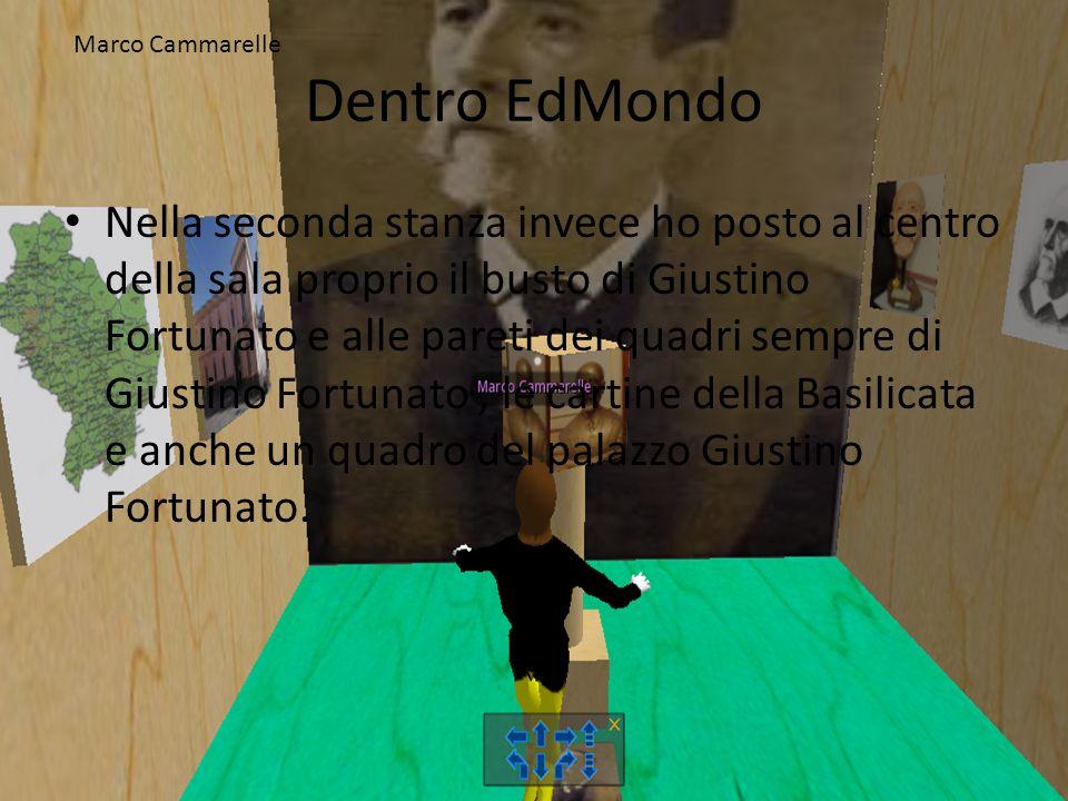 Dentro EdMondo Nella seconda stanza invece ho posto al centro della sala proprio il busto di Giustino Fortunato e alle pareti dei quadri sempre di Giu
