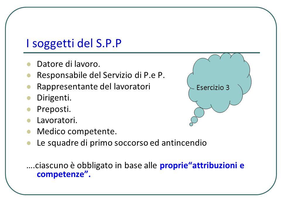 Lobiettivo del S.P.P Non esiste unattività/unazione umana senza rischi.