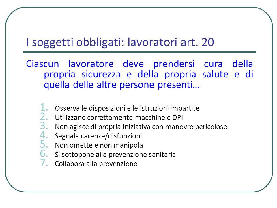 I soggetti obbligati Preposti (chi sovraintende allattività lavorativa…potere di iniziativa)….art.
