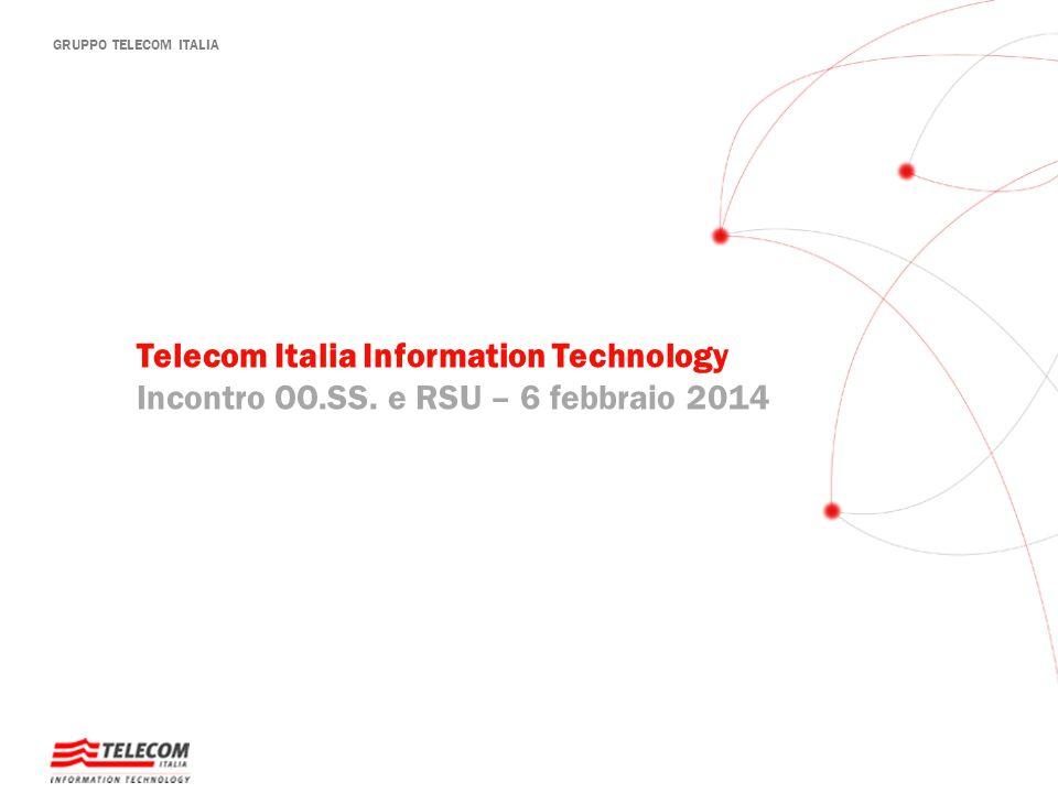 GRUPPO TELECOM ITALIA Telecom Italia Information Technology Incontro OO.SS. e RSU – 6 febbraio 2014