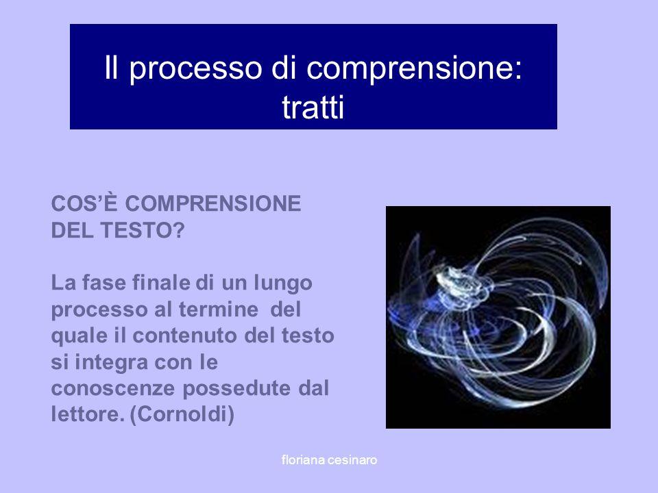 Il processo di comprensione: tratti COSÈ COMPRENSIONE DEL TESTO? La fase finale di un lungo processo al termine del quale il contenuto del testo si in