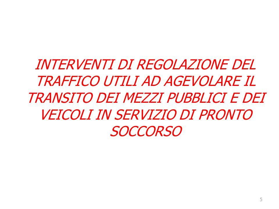 6 - Via B.Buozzi – da via Lattanzi a p.zza Di Negro; - Via Cantore – da Camionale a via V.