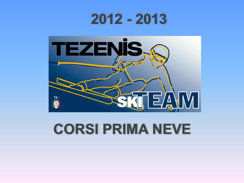 CORSI PRIMA NEVE 2012 - 2013