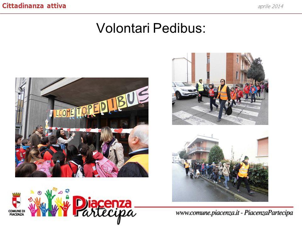 Volontari Pedibus: aprile 2014 Cittadinanza attiva
