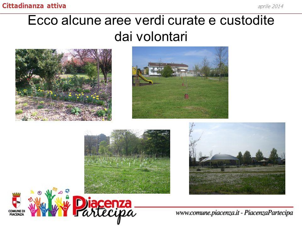 Ecco alcune aree verdi curate e custodite dai volontari aprile 2014 Cittadinanza attiva