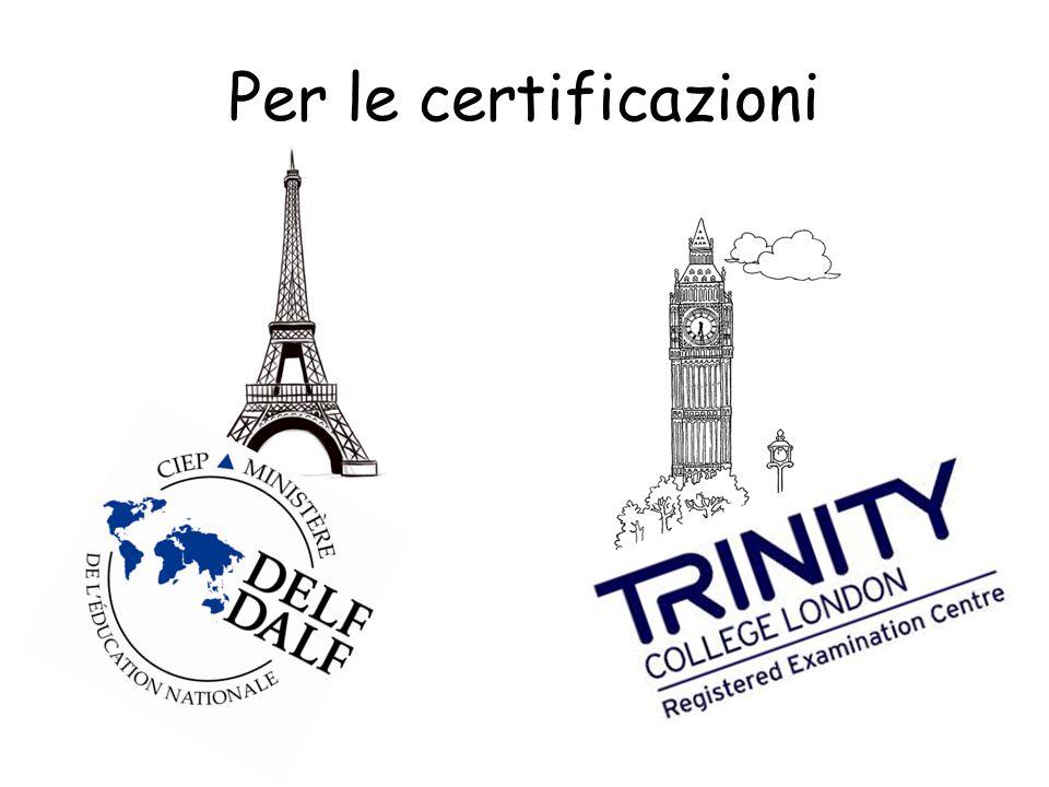 Centro Trinity Abbiamo ottenuto laccreditamento come Centro Trinity : gli esami (anche per le altre scuole della zona) si svolgono nel nostro Istituto