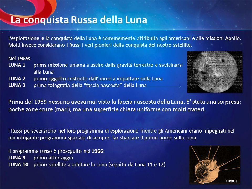 Lesplorazione e la conquista della Luna è comunemente attribuita agli americani e alle missioni Apollo. Molti invece considerano i Russi i veri pionie