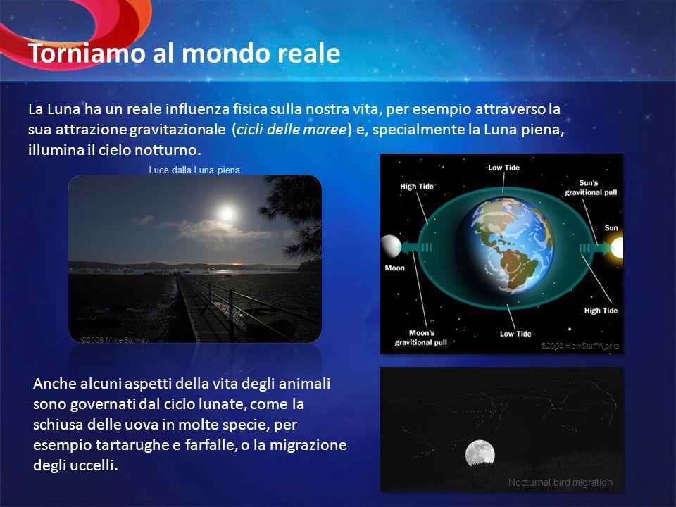 La Luna ha un reale influenza fisica sulla nostra vita, per esempio attraverso la sua attrazione gravitazionale (cicli delle maree) e, specialmente la