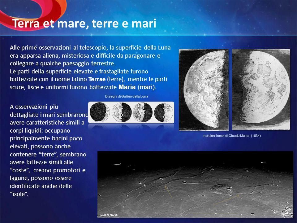 Alle prime osservazioni al telescopio, la superficie della Luna era apparsa aliena, misteriosa e difficile da paragonare e collegare a qualche paesagg
