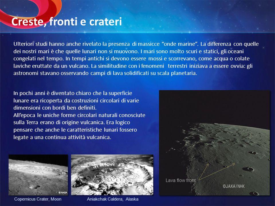 Ulteriori studi hanno anche rivelato la presenza di massicce onde marine. La differenza con quelle dei nostri mari è che quelle lunari non si muovono.