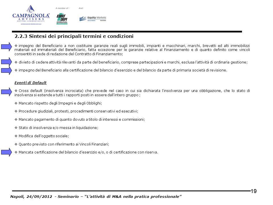 19 impegno del Beneficiario a non costituire garanzie reali sugli immobili, impianti e macchinari, marchi, brevetti ed alti immobilizzi materiali ed i