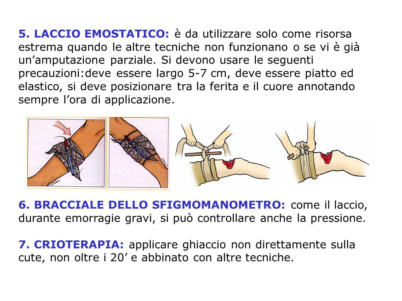 Punti di compressione EMORRAGIE ESTERNE ART. FEMORALE ART. FEMORALE ART. POPLITEA ART. POPLITEA ART. CAROTIDE ART. CAROTIDE