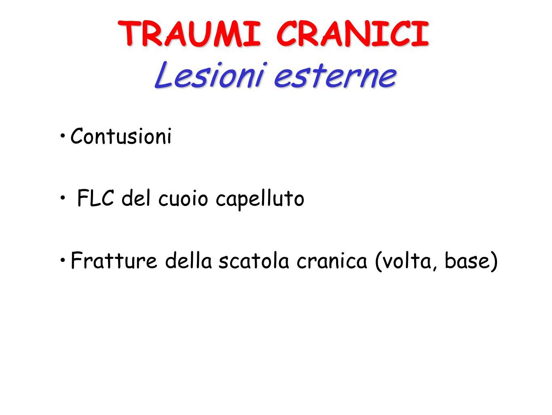 Qualsiasi situazione che produce danni alle varie componenti del cranio (scatola cranica, meningi, encefalo) è un trauma cranico. Le lesioni più gravi