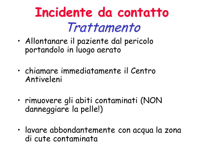 Incidente da inalazione Trattamento Allontanare il paziente dal pericolo portandolo in luogo aerato chiamare immediatamente il Centro Antiveleni garan