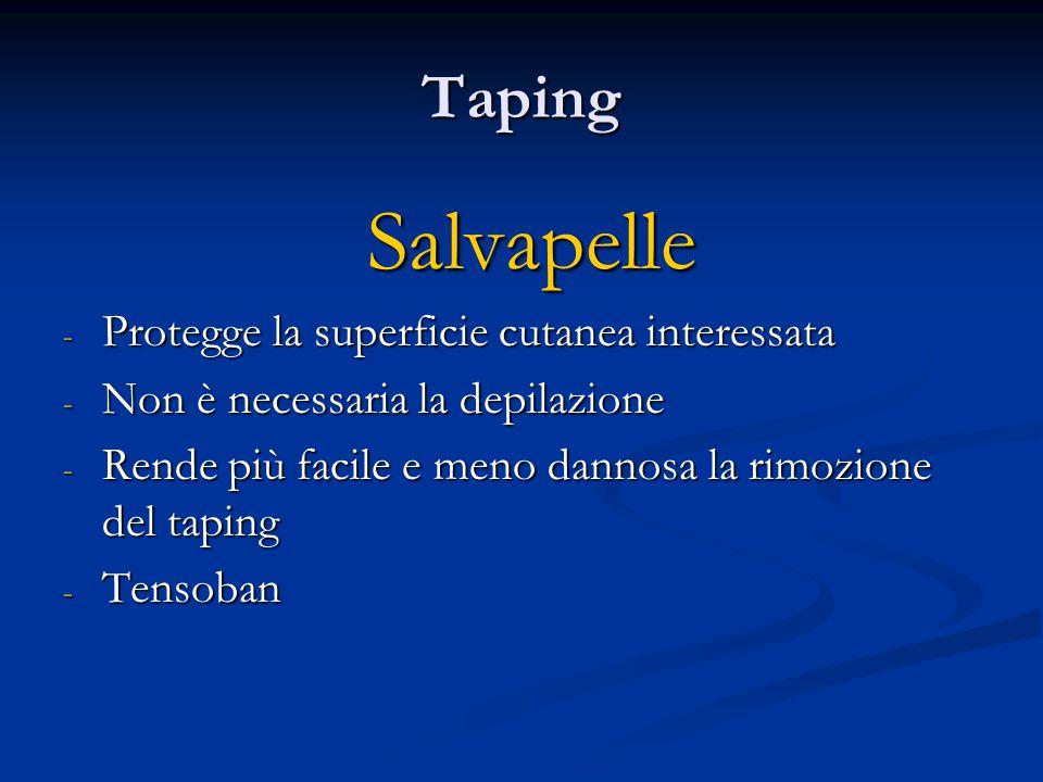 Taping Salvapelle Salvapelle - Protegge la superficie cutanea interessata - Non è necessaria la depilazione - Rende più facile e meno dannosa la rimoz