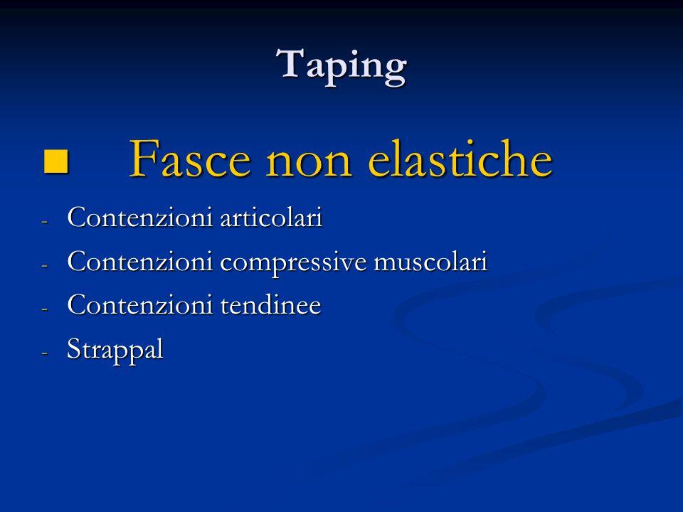 Taping Principi generali Principi generali Tre grandi gruppi di patologie : - Patologia tendinea - Patologia articolare - Patologia muscolare