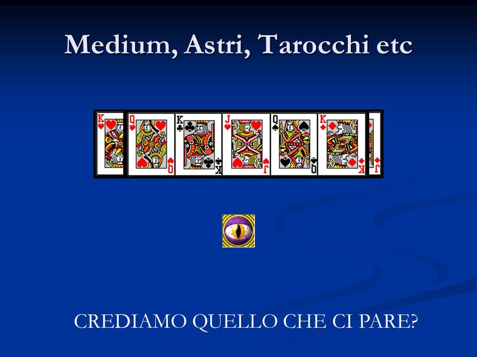 Medium, Astri, Tarocchi etc CREDIAMO QUELLO CHE CI PARE