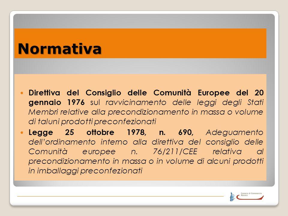 Normativa Direttiva del Consiglio delle Comunità Europee del 20 gennaio 1976 sul ravvicinamento delle leggi degli Stati Membri relative alla precondiz