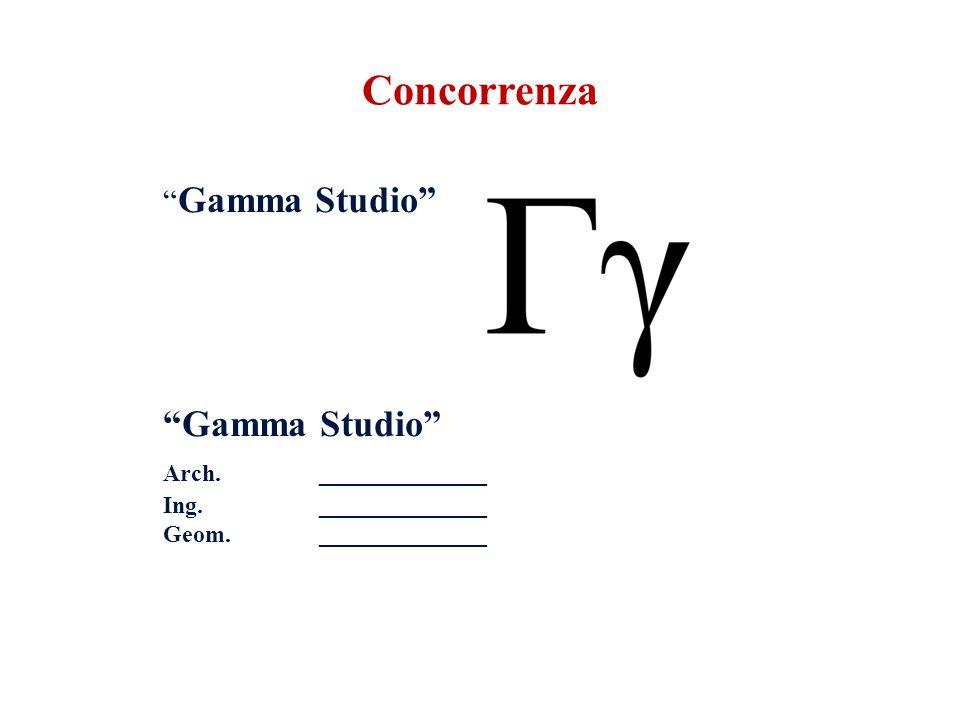 Gamma Studio Arch.______________ Ing. ______________ Geom. ______________ Concorrenza