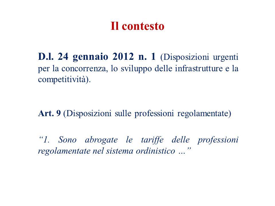 D.l. 24 gennaio 2012 n. 1 (Disposizioni urgenti per la concorrenza, lo sviluppo delle infrastrutture e la competitività). Art. 9 (Disposizioni sulle p