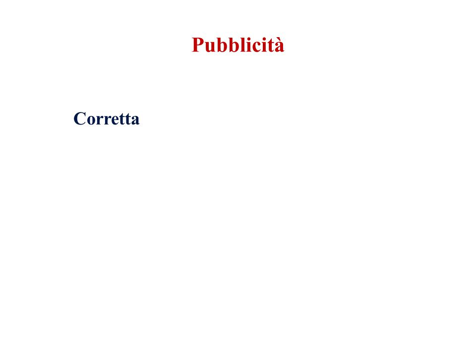 Corretta Pubblicità