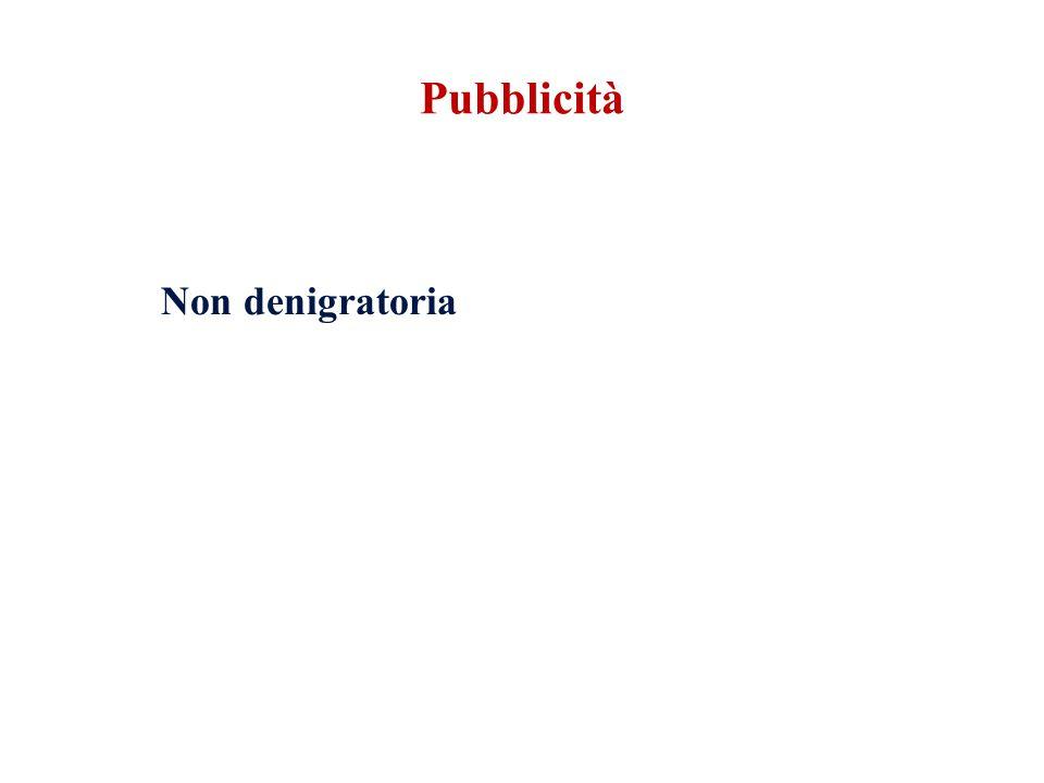 Non denigratoria Pubblicità
