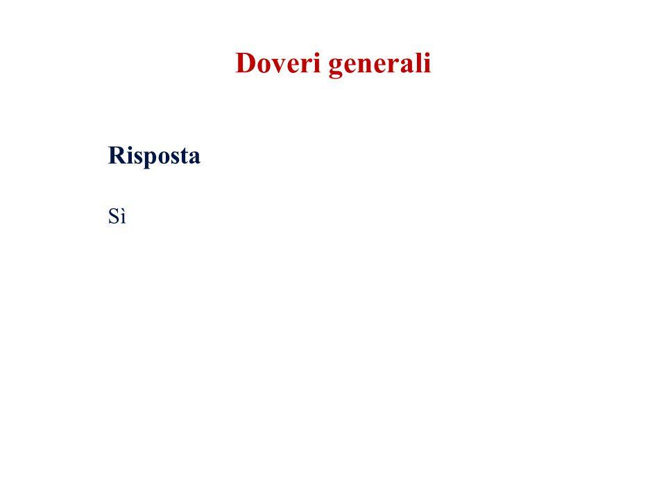 Risposta Sì Doveri generali