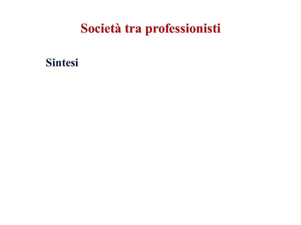 Sintesi Società tra professionisti
