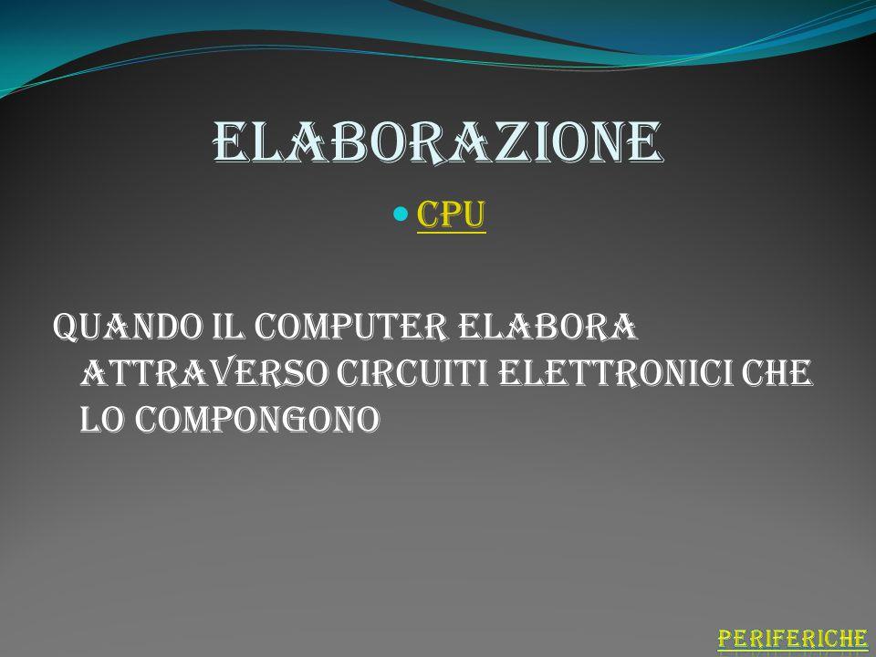 output Casse Stampanti Monitor Il computer comunica i risultati