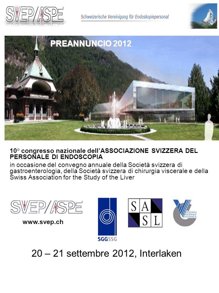 Cari colleghi, a nome dellAssociazione svizzera del personale di endoscopia (ASPE), abbiamo il piacere di invitarvi al Congresso annuale dellASPE.