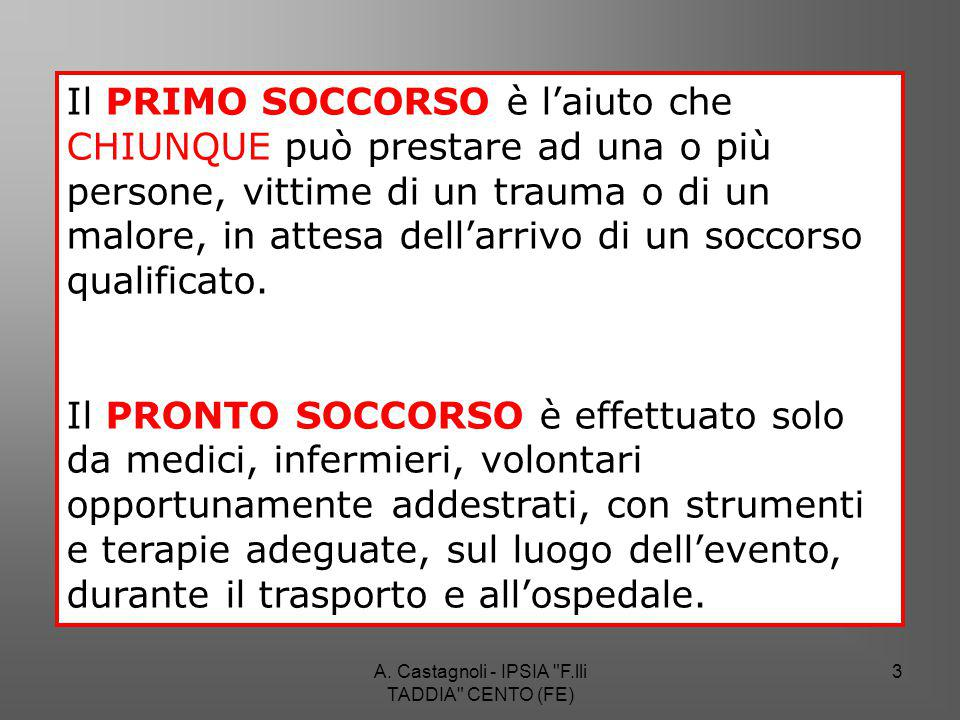 A. Castagnoli - IPSIA F.lli TADDIA CENTO (FE) 34 Rianimazione cardiopolmonare