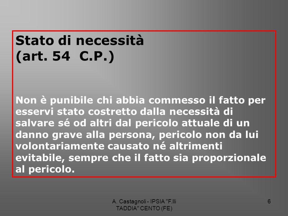 A. Castagnoli - IPSIA F.lli TADDIA CENTO (FE) 97