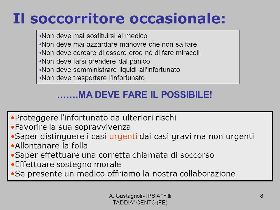 A. Castagnoli - IPSIA F.lli TADDIA CENTO (FE) 49 EMORRAGIE A: arteriosaB: venosaC: capillare