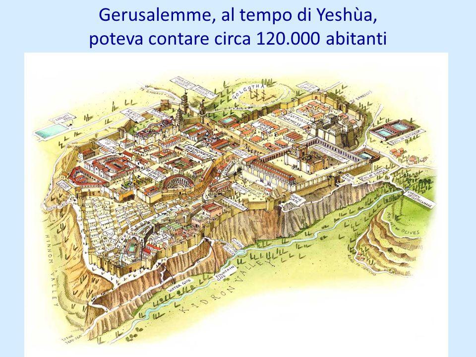 Gerusalemme, al tempo di Yeshùa, poteva contare circa 120.000 abitanti