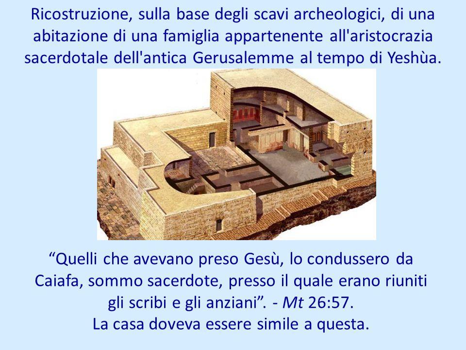 Ricostruzione, sulla base degli scavi archeologici, di una abitazione di una famiglia appartenente all'aristocrazia sacerdotale dell'antica Gerusalemm