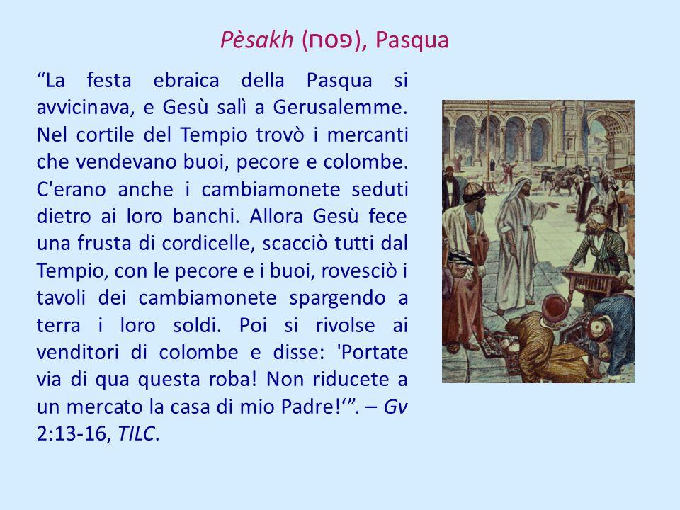 La festa ebraica della Pasqua si avvicinava, e Gesù salì a Gerusalemme. Nel cortile del Tempio trovò i mercanti che vendevano buoi, pecore e colombe.